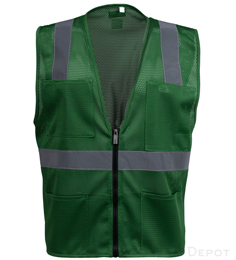 Green Mesh Safety Vest THUMBNAIL