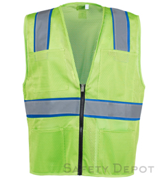 Light Green Mesh Safety Vest THUMBNAIL