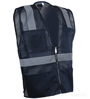 Navy Blue Mesh Safety Vest SWATCH
