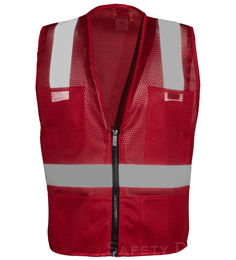 Red Mesh Safety Vest THUMBNAIL
