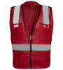 Red Mesh Safety Vest SWATCH