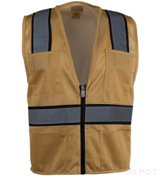 Tan Mesh Safety Vest THUMBNAIL