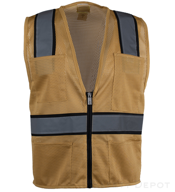 Tan Mesh Safety Vest MAIN