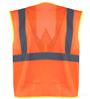 Orange Reflective Mesh Class 2 Safety Vest_SWATCH