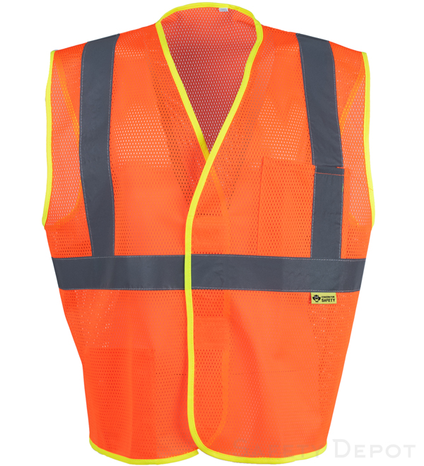 Orange Reflective Mesh Class 2 Safety Vest_MAIN
