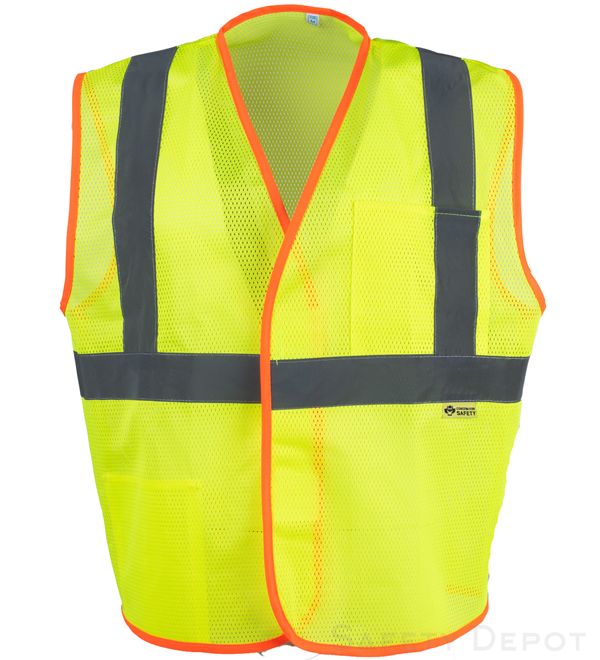 yellow lime economy safety vest_MAIN