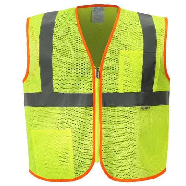 Yellow/Lime Mesh Safety Vest_MAIN