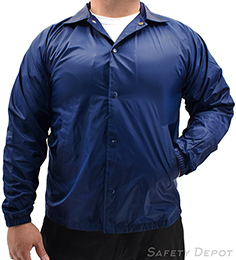 Navy Blue Coaches Jacket THUMBNAIL