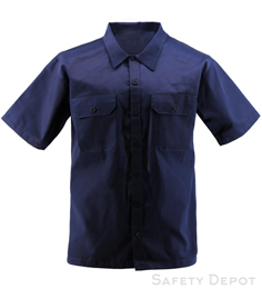 Navy Short Sleeve Work Shirt THUMBNAIL