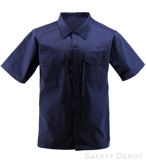 Navy Short Sleeve Work Shirt MAIN