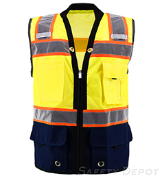 Navy Blue Bottom Two Toned Class 2 Safety Vest THUMBNAIL