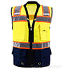Navy Blue Bottom Two Toned Class 2 Safety Vest SWATCH