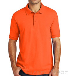 Orange Collared Safety Shirt THUMBNAIL