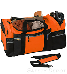 Large Orange Turnout Gear Bag THUMBNAIL