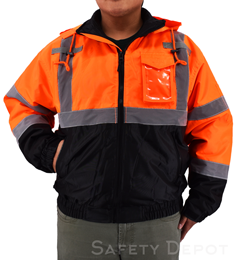 Hi Vis Orange Safety Jacket THUMBNAIL