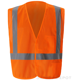 Orange Class 2 Safety Vest  Orange THUMBNAIL