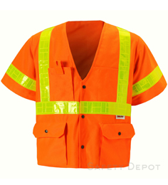 Orange Class 3 Safety Vest THUMBNAIL