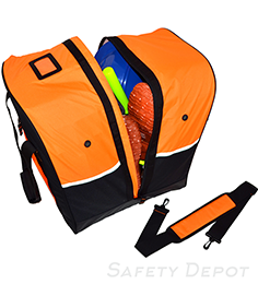 Orange Step-In Turnout Gear Bag THUMBNAIL