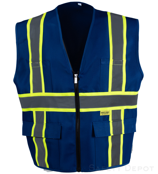 Professional Solid Royal Blue Vest MAIN