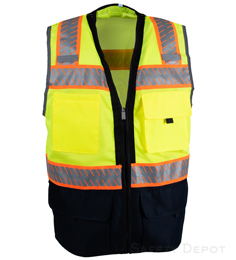 Navy Blue Bottom Lime Safety Vest_THUMBNAIL