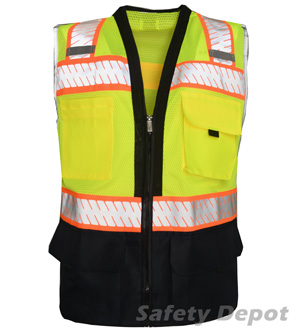 Black Bottom Lime Safety Vest