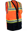 Navy Blue Bottom Orange Safety Vest_SWATCH