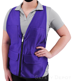 Women's Purple Safety Vest THUMBNAIL