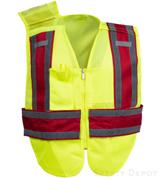 Public Work Breakway Safety Vest PWB503-Red THUMBNAIL