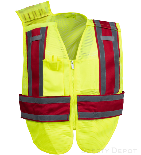 Red Public Work Safety Vest MAIN