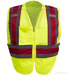Red Public Work Safety Vest THUMBNAIL