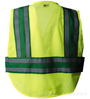 Green Public Work Safety Vest SWATCH