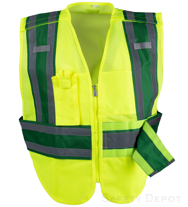 Green Public Work Safety Vest MAIN