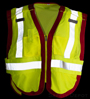 Public work Safety Vest PWB505-Red_SWATCH