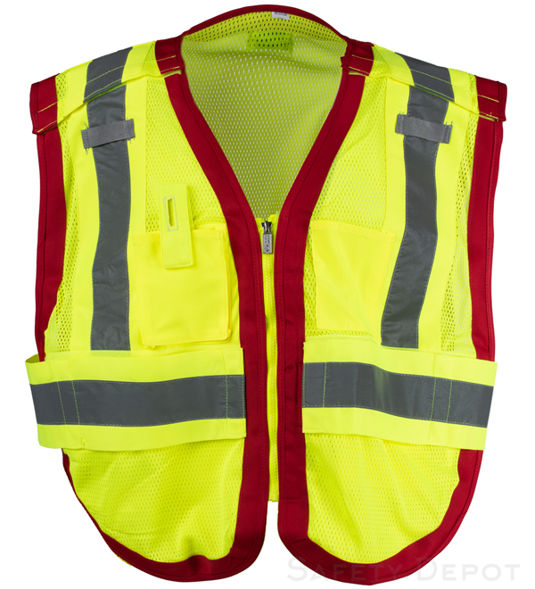 Public work Safety Vest PWB505-Red_MAIN