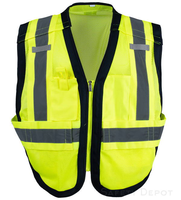 Public Work Safety Vest PWB505-Blue MAIN