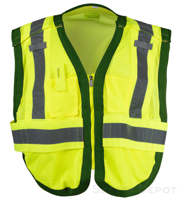 Public work Safety Vest PWB505-Green MAIN