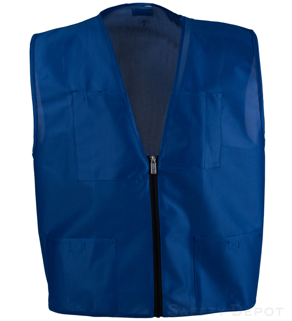 Royal Blue Economy Safety Vest MAIN