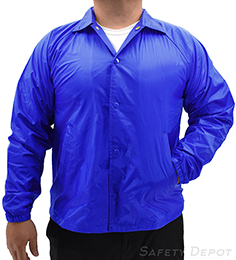 Royal Blue Coaches Jacket THUMBNAIL