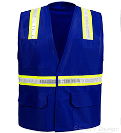 Royal Blue Velcro Safety Vest THUMBNAIL