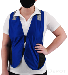Royal Blue Reflective Safety Vest THUMBNAIL
