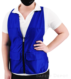 Women's Royal Blue Safety Vest THUMBNAIL