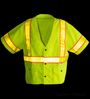 Class 3 Yellow Snap Safety Vest SWATCH