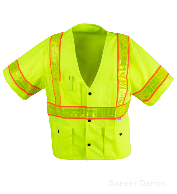 Class 3 Yellow Snap Safety Vest_MAIN