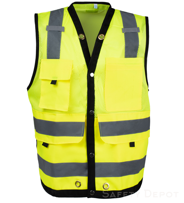 Surveyor lime yellow Safety Vest MAIN