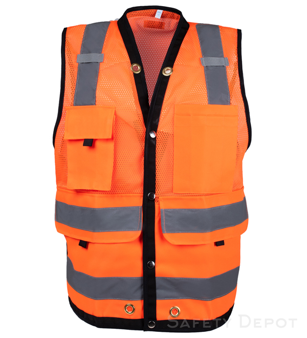 Orange Surveyor Safety Vest MAIN