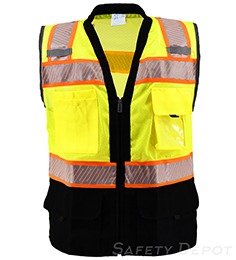 Premium Black Bottom Two Toned Class 2 Safety Vest THUMBNAIL
