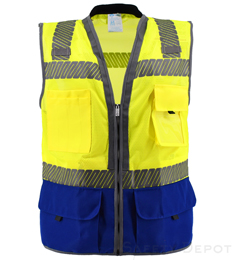 Premium Two Toned Safety Vest THUMBNAIL