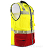 Premium Red Bottom Two Toned Class 2 Safety Vest SWATCH
