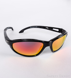 Aqua Precision Red Mirror Lens Sunglasses