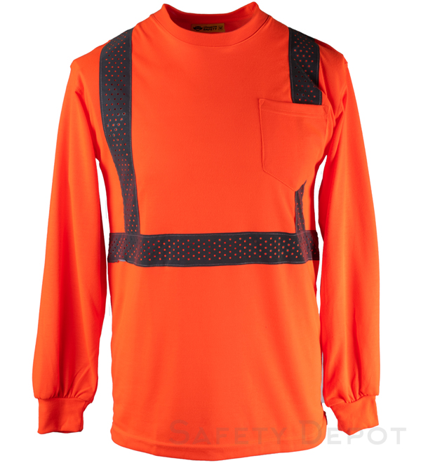 Orange Reflective Long Sleeve Shirt MAIN